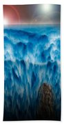 Ocean Falling Into Abyss Bath Towel