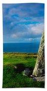 Ogham Stone, Dunmore Head, Dingle Bath Towel