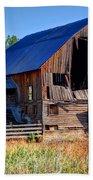 Old Barn With Concrete Grain Silo - Utah Bath Towel