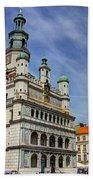 Old City Hall Clock Tower - Posnan Poland Bath Towel