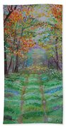 Old Country Road Bath Towel