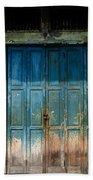 old door in China town Bath Towel
