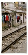 Old Hanoi By The Tracks Bath Towel