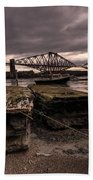 Old Jetty By The Bridge Bath Towel