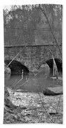 Old Stone Bridge Over The Unami Creek - Sumneytown Pa Bath Towel