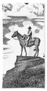 Old-west-art-cowboy Hand Towel