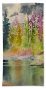 On The Colourful Pond Bath Towel