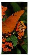 Orange Butterfly Bath Towel