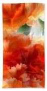 Orange Carnations Bath Towel