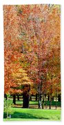 Orange Colored Trees Bath Towel