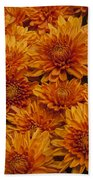 Orange Mums Bath Towel