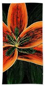 Orange Oriental Lily Bath Towel
