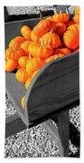 Orange Pumpkin Harvest Bath Towel