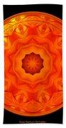 Orange Rose Kaleidoscope Under Glass Bath Towel