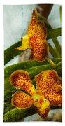 Orchid - Oncidium - Ripened   Bath Towel