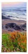 Oregon Coast Wildflowers Bath Towel