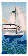 Coronado Sailin' - Memoryscape Hand Towel