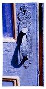 Ornate Door Handle Bath Towel