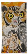 Owl In The Fall Hand Towel
