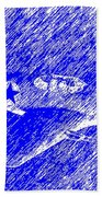 P 51 Mustang Flying In The Rain Hand Towel