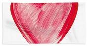 Painted Heart - Symbol Of Love Bath Towel