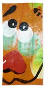 Painted Pumpkin 3 Bath Towel