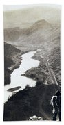 Palisades Railroad View - California - C 1865 Bath Towel