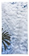 Palm And Dramatic Sky Bath Towel