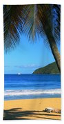 Palm Shaded Island Beach  Bath Towel