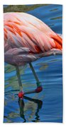 Palm Springs Flamingo Bath Towel