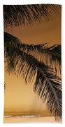 Palm Tree And Sunset In Mexico Bath Towel