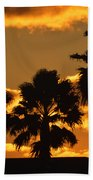 Palm Trees In Sunrise Bath Towel