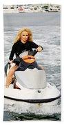 Pamela Anderson Is A Jet Ski Vixen Bath Towel
