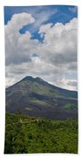 Panoramic View Of A Volcano Mountain  Bath Towel
