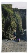 Panoramic View Of Cliffs, Cliffs Of Bath Towel