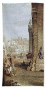 Paris: Book Stalls, 1843 Bath Towel