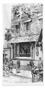 Paris: Cafe, 1889 Bath Towel