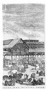 Paris: Les Halles, 1858 Bath Towel