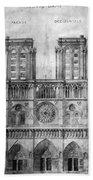 Paris: Notre Dame, 1848 Bath Towel