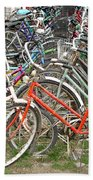 Parking Bicycles In Mako Bath Towel