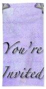 Party Invitation - General - Wild Iris - Blue Flag Bath Towel