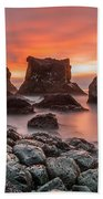 Patrick's Point Sunset Bath Towel