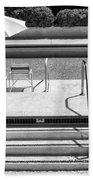 Peaceful Oasis Bw Palm Springs Bath Towel