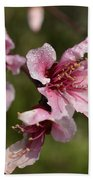 Peach Blossom Clusters Bath Towel