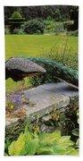 Peacock In Formal Garden, Kilmokea, Co Bath Towel