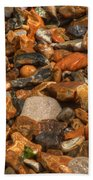 Pebbles And Stones On The Beach Bath Towel