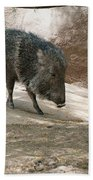 Peccary Bath Towel