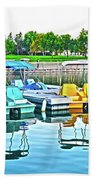 Pedal Boats Bath Towel