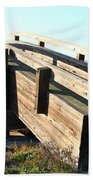 Pedestrian Bridge At Martinez Regional Shoreline Park In Martinez California . 7d10513 Hand Towel