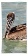 Pelican Waiting For A Catch Bath Towel